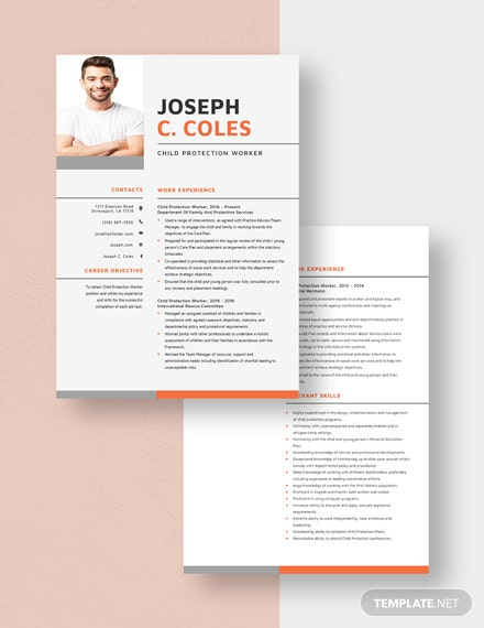 Child Protection Worker Resume Download