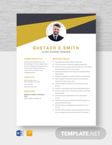 Client Account Manager Resume Template