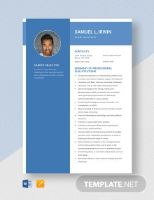 Client Associate Resume Template