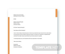 Free Request Letter to Bank Template