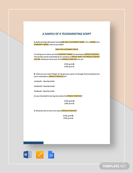 Script Sample Template