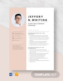 Client Relationship Manager Resume Template
