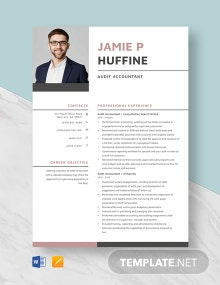 Audit Accountant Resume Template