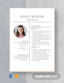 Career Advisor Resume Template