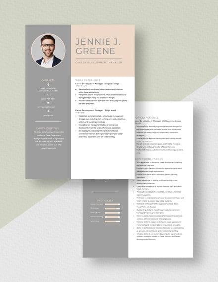 Career Development Manager Resume Download
