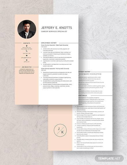 Career Service Specialist Resume Download