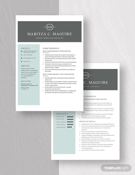 Career Transition Specialist Resume Download