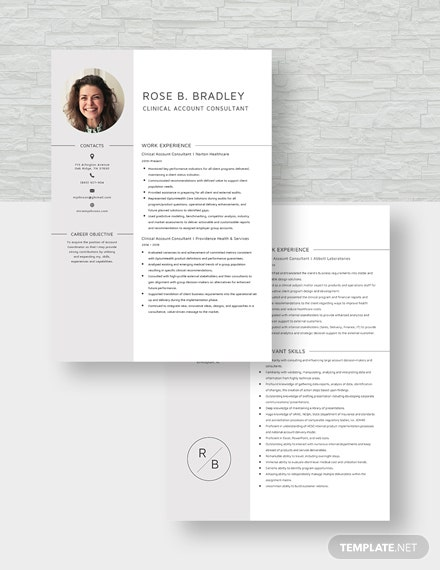 Clinical Account Consultant Resume Download