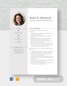 Clinical Account Consultant Resume Template