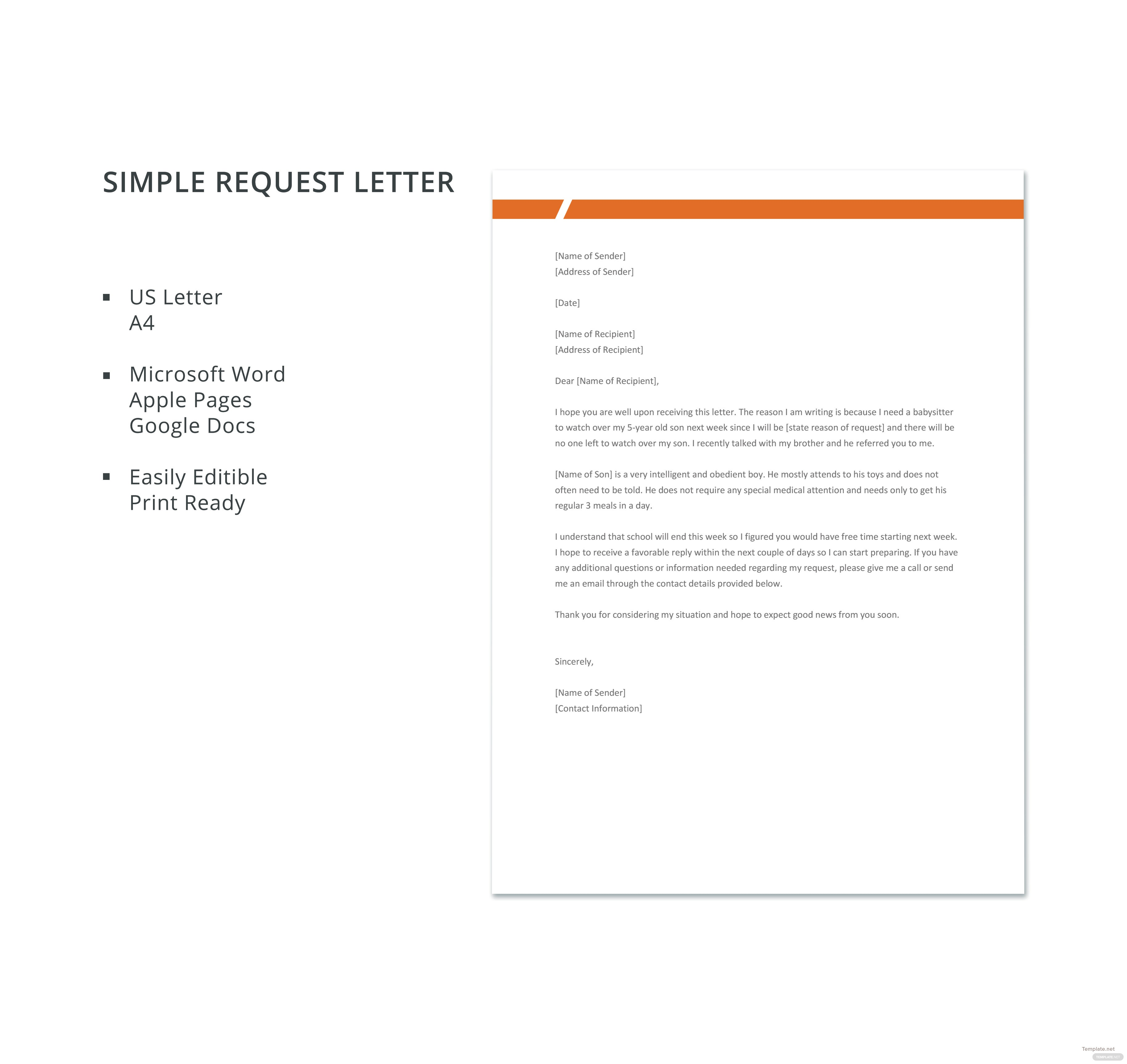 simple request letter vatoz atozdevelopment co