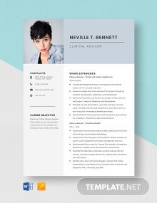 Clinical Advisor Resume Template