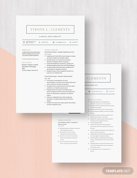 Clinical Data Analyst Resume Download