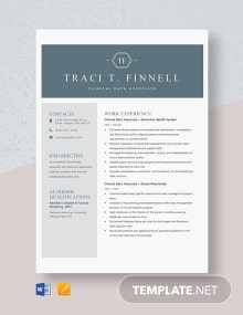 Clinical Data Associate Resume Template