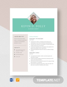 Closing Agent Resume Template