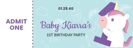 1st Birthday Ticket Template