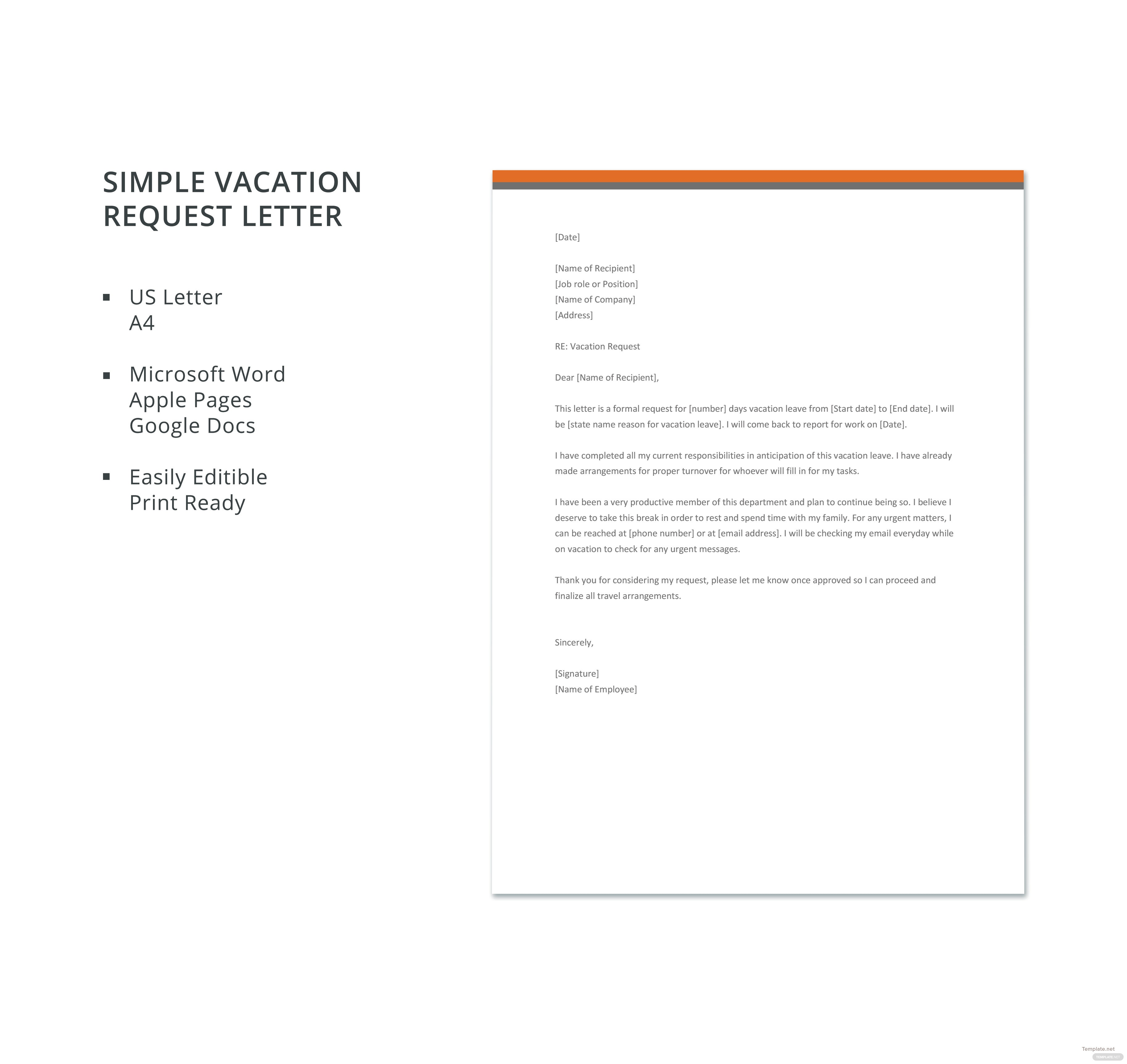 vacation request letter to boss how to write a vacation request