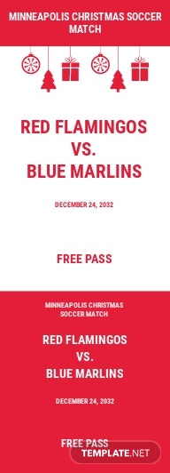 Christmas Soccer Gift Ticket Template