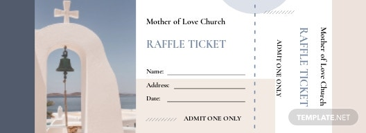 Church Raffle Ticket Template