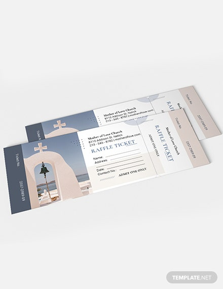 Sample Church Worship Ticket