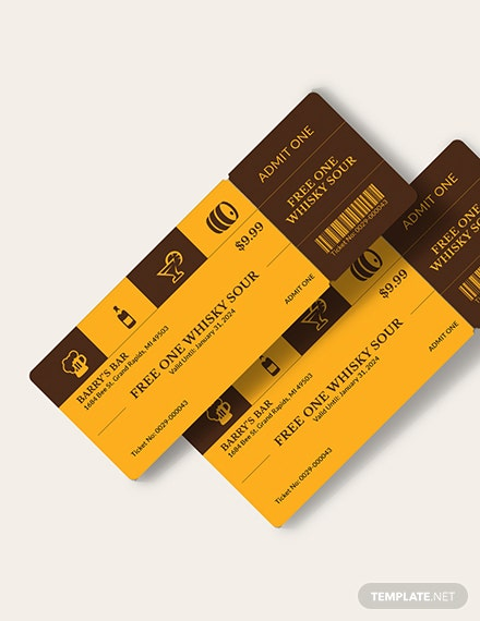 Complimentary Drink Ticket Download