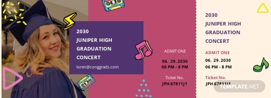 Concert Graduation Ticket Template