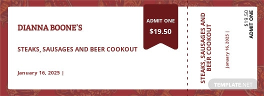 Cookout Food Ticket Template