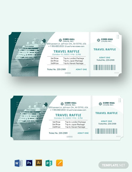Cruise Raffle Ticket Template