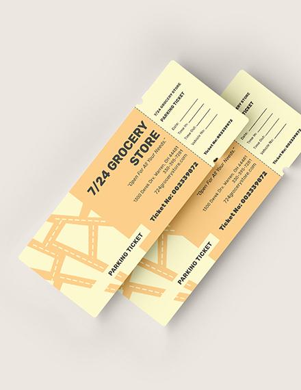 Editable Parking Ticket Download