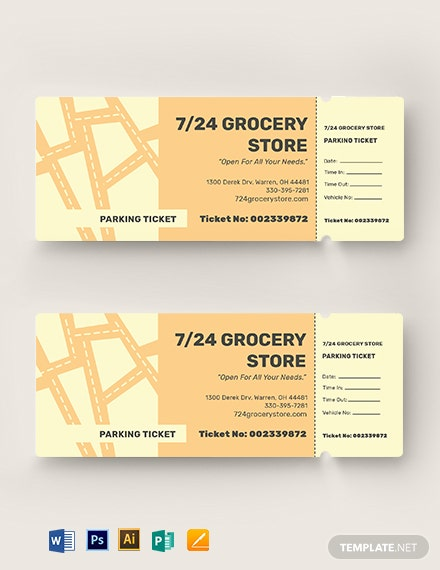Editable Parking Ticket Template
