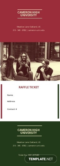 Education Raffle Ticket Template