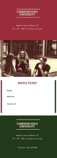 Education Raffle Ticket Template
