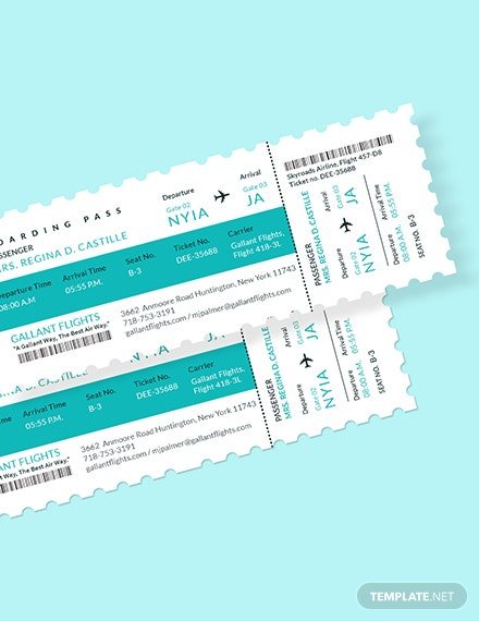 Elegant Airline Ticket Download
