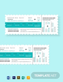 Elegant Airline Ticket Template