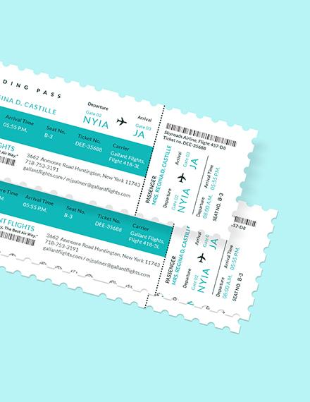Sample Elegant Airline Ticket