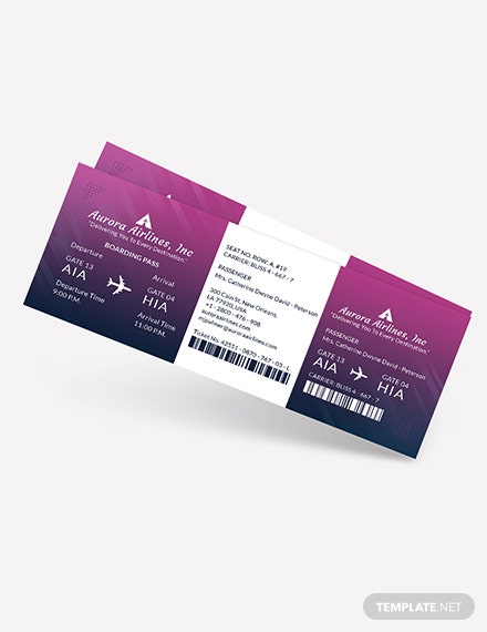 Elegant Travel Ticket Download