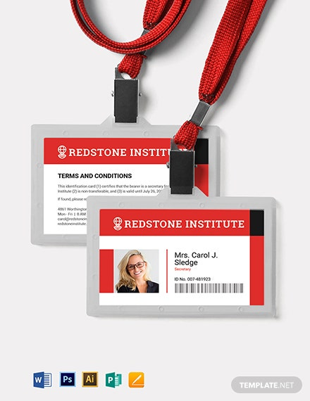 Horizontal ID Card Template