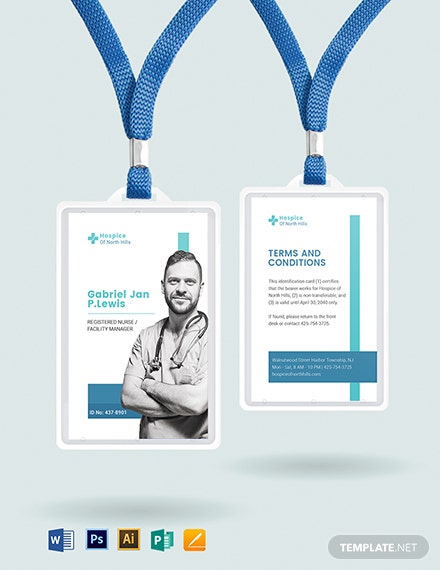 Hospice ID Card Template