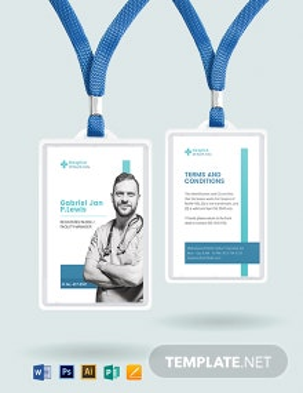 Hospice ID Card Template