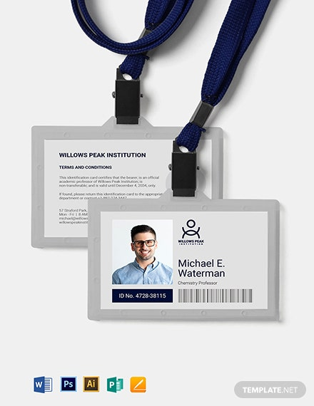 Institution ID Card Template