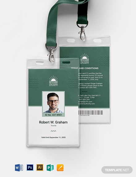 International ID Card Template