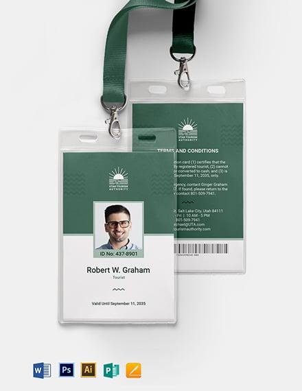International ID Card Template