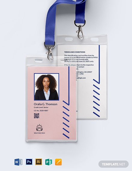 K12 School ID Card Template