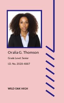 K12 School ID Card Template