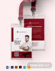 Karate Club ID Card Template