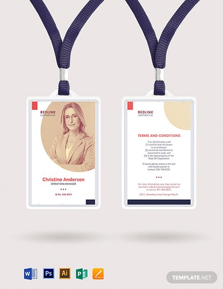 Management ID Card Template
