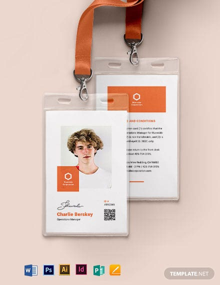 Manager ID Card Template