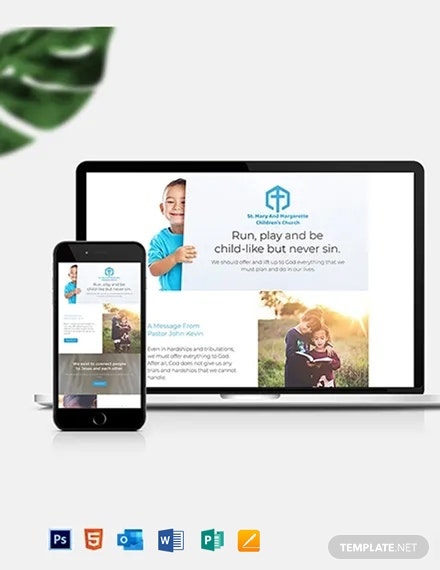 Children's Church Newsletter Template