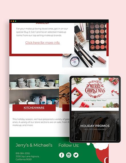 Sample Christmas Email Newsletter