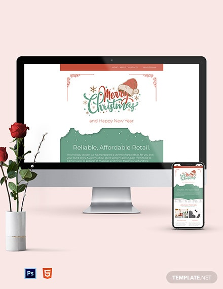 christmas sale newsletter template 1