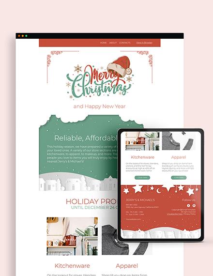 Sample Christmas Sale Newsletter